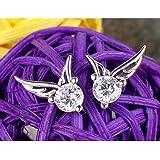 splendente stile coreano Angel Wings S925argento orecchini