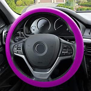 FH Group FH3001VIOLET Violet Steering Wheel Cover