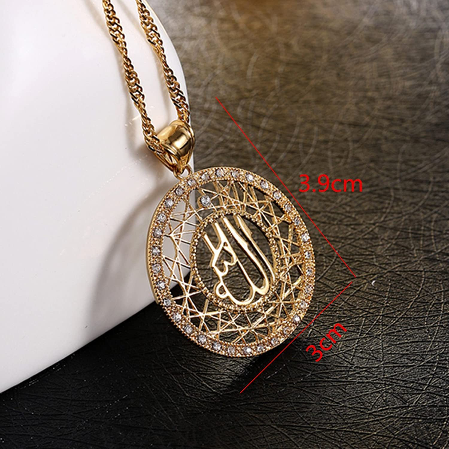 Amazon 24k gold muslims allah pendant necklace charm arabic amazon 24k gold muslims allah pendant necklace charm arabic islamic rhinestone jewelry jewelry mozeypictures Choice Image
