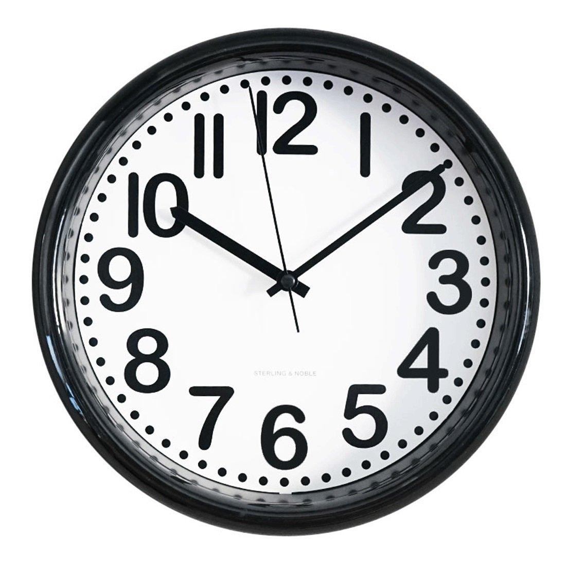 Amazon com 8 75 inch modern minimalist style wall clock living room bedroom fashion creative quartz clock round creative wall clock home kitchen