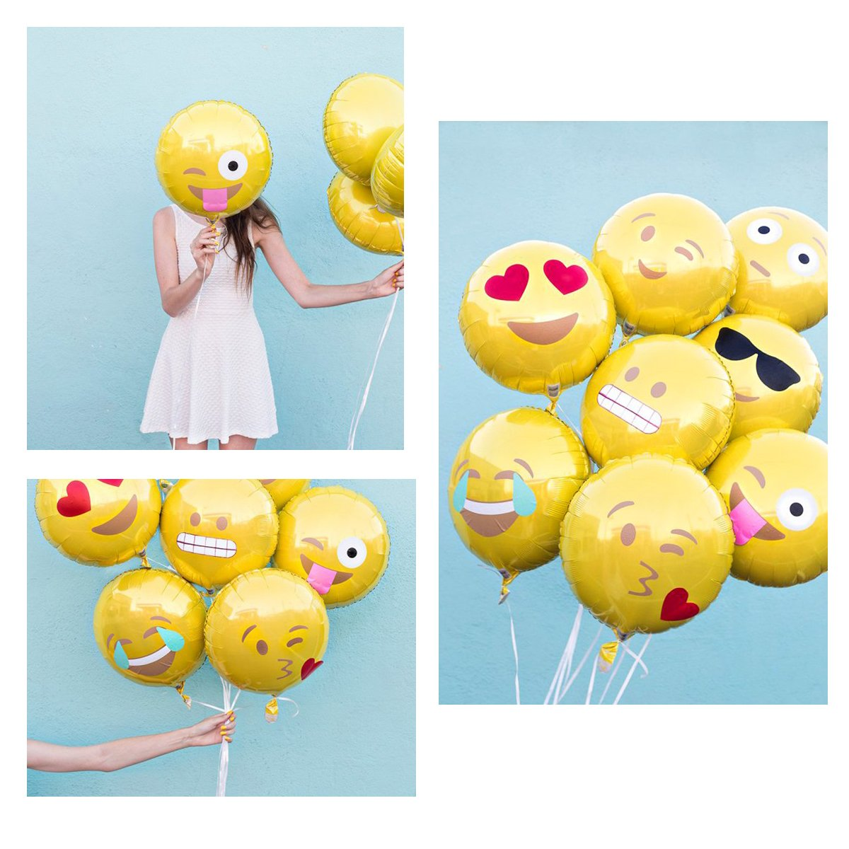 18 Reusable 11 Facial Expression Balloons for Party Birthday or Holiday Decoration BESTOMZ Party Balloons 24pcs 18 Reusable 11 Facial Expression Balloons for Party