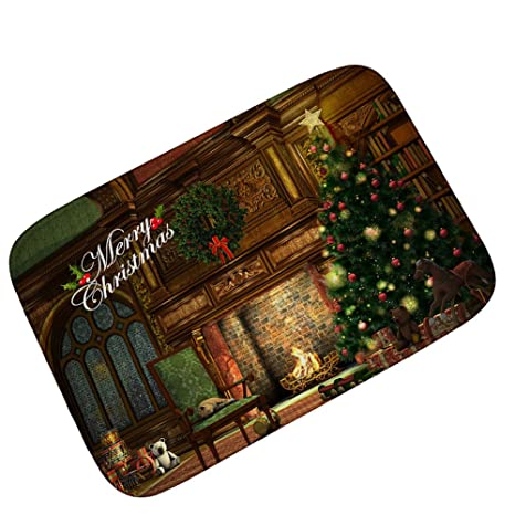 bluespace christmas mats 3d printing doormat outdoor indoor front door mats non slip carpets for bedroom