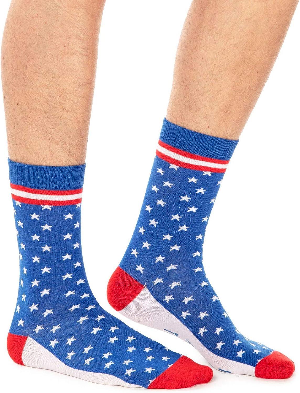 Men's USA Socks - Red White and Blue Patriotic Socks