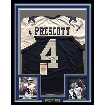 538b28c46 ... cheap dak prescott autographed jersey framed 33x42 thanksgiving coa jsa  certified autographed nfl jerseys ce399 a218b