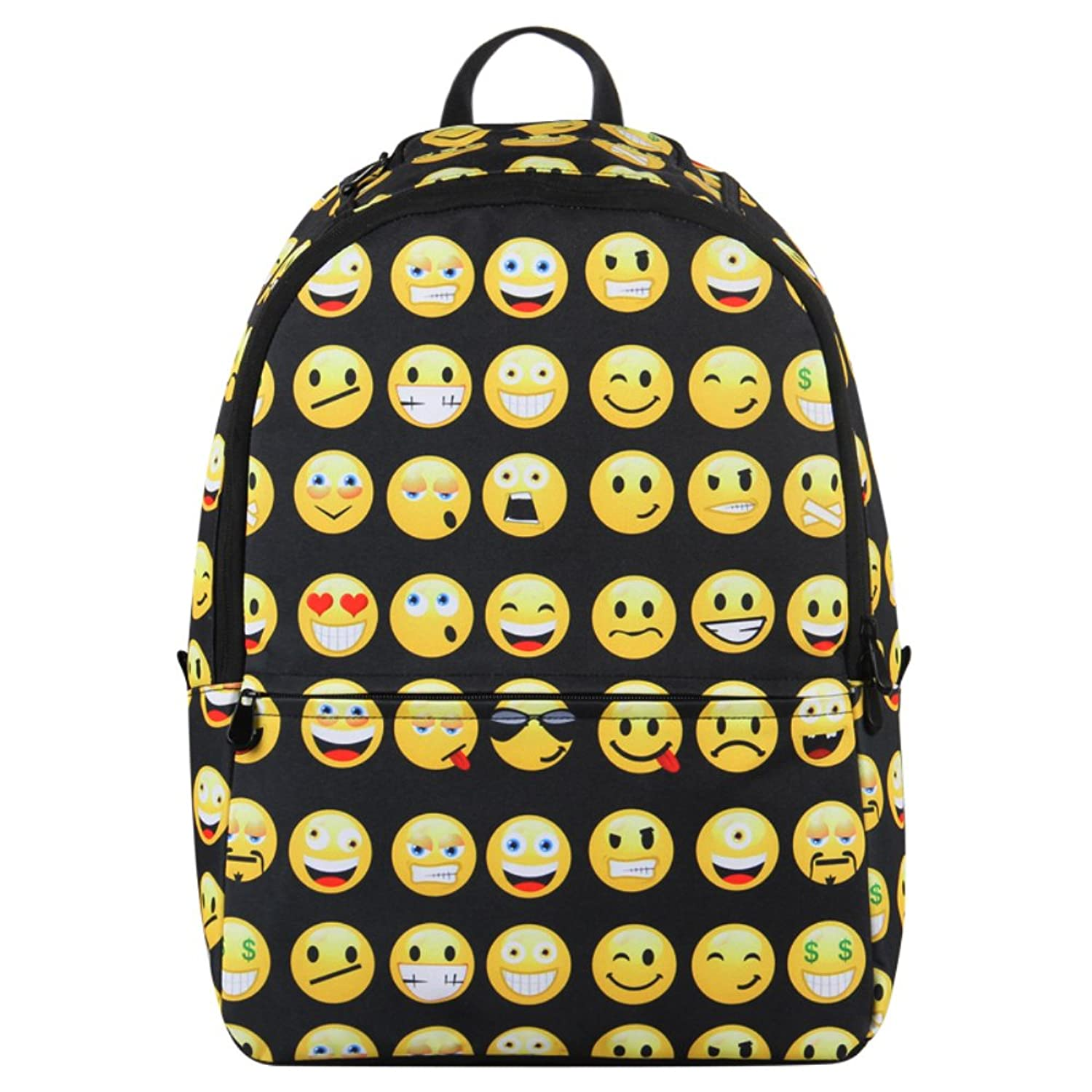 Amazon.com | Hynes Eagle Printed Emoji Kids School Backpack Black ...