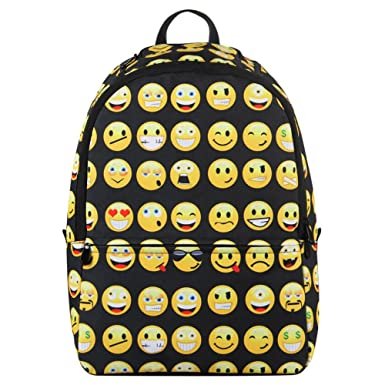 fda68abf85b4 Hynes Eagle Printed Emoji Backpack Black
