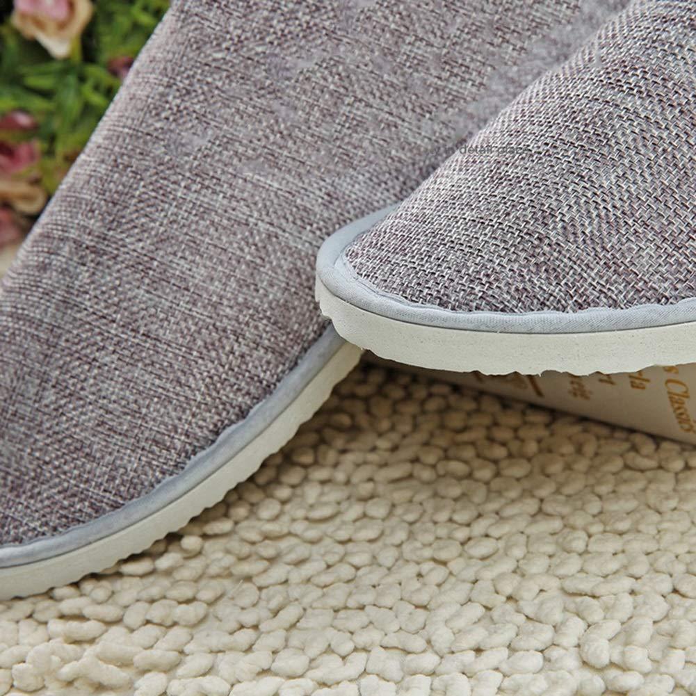 QTT Disposable Slippers 50 Pairs Adult Non-Slip Gray Half-Pack Indoor Indoor Slippers