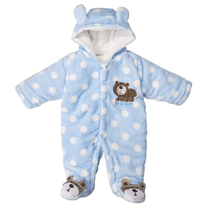 aea09178b54a Amazon.com  Newborn Snowsuit Baby Boy Winter Bodysuit Clothing ...