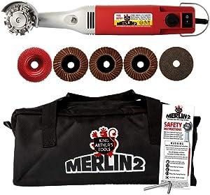 King Arthur's Tools MERLIN2 Variable Speed, Mini Angle Grinder