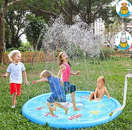 Amazon Com Cn Crafts 60 Sprinkle And Splash Play Mat Pad Outdoor
