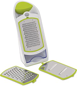 Berghoff Ergonomic Manual Grater and Slicer, Lime Green, 4-Piece