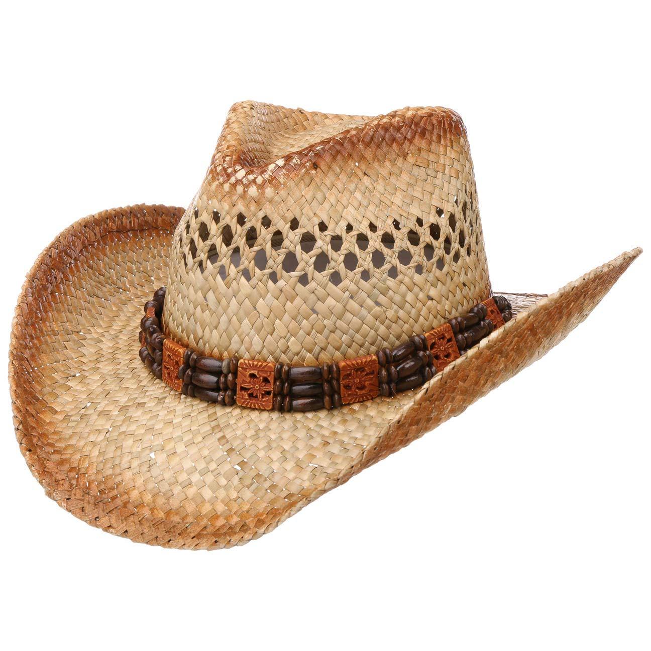 Lipodo Brazoria Cowboyhut Strohhut Sonnenhut Westernhut Sommerhut Damen//Herren Fr/ühling-Sommer