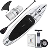 "TOWER Inflatable 10'4"" Stand Up Paddle Board - (6 Inches Thick) - Universal SUP Wide Stance - Premium SUP Bundle (Pump…"