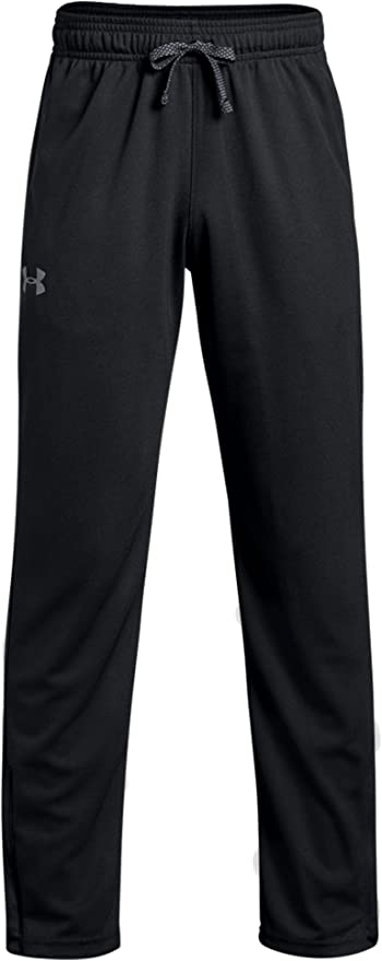 001 Youth Small Black//Graphite Under Armour Tech Boys Trousers