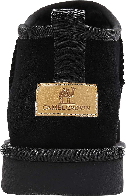 CAMEL CROWN Stivali Invernali da Uomo Caldi Foderato