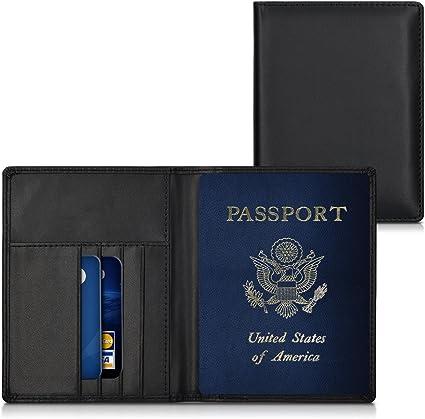 kwmobile 1x Funda con bloqueo RFID compatible con pasaporte y DNI ...