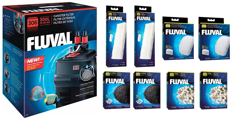 306 Filter Bundle Fluval Canister Filter Bundles. 206, 306, 406, FX-4 and FX-6 (306 Filter Bundle)