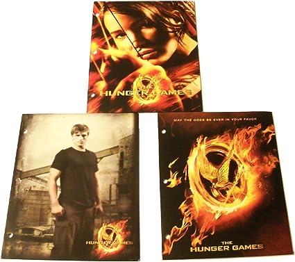 Amazon Com Hunger Games The 3 Folder Set Peeta Katniss