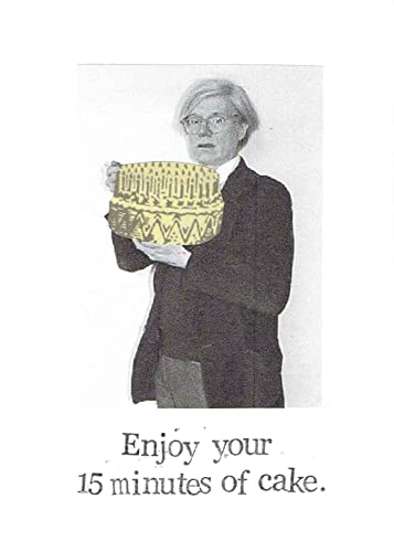 Amazon 15 Minutes Of Cake Andy Warhol Funny Birthday Card