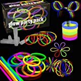 100 Glow Stick Party Pack - Premium Quality - Glowhouse UK Branded - Kit to create: Glowsticks, Bracelets, Necklaces, Glasses, Triple bracelets, Bunny Ears, Balls, Flowers & much more!