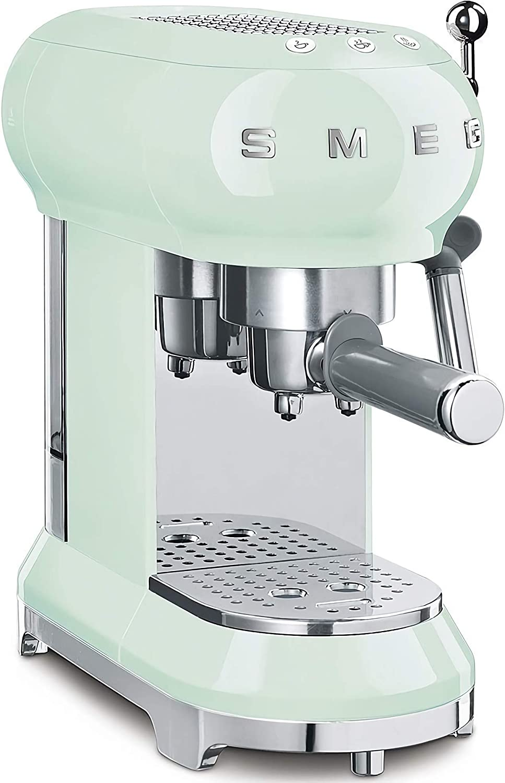 Smeg ECF01PGEU Cafetera Express ECF01WHEU diseño años 50, 1 Cups ...