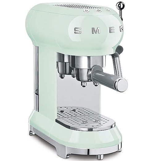 Smeg ECF01PGEU Cafetera Express ECF01WHEU diseño años 50, Verde ...
