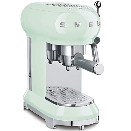 Smeg ECF01PGEU Cafetera Express ECF01WHEU diseño años 50, Verde Pastel