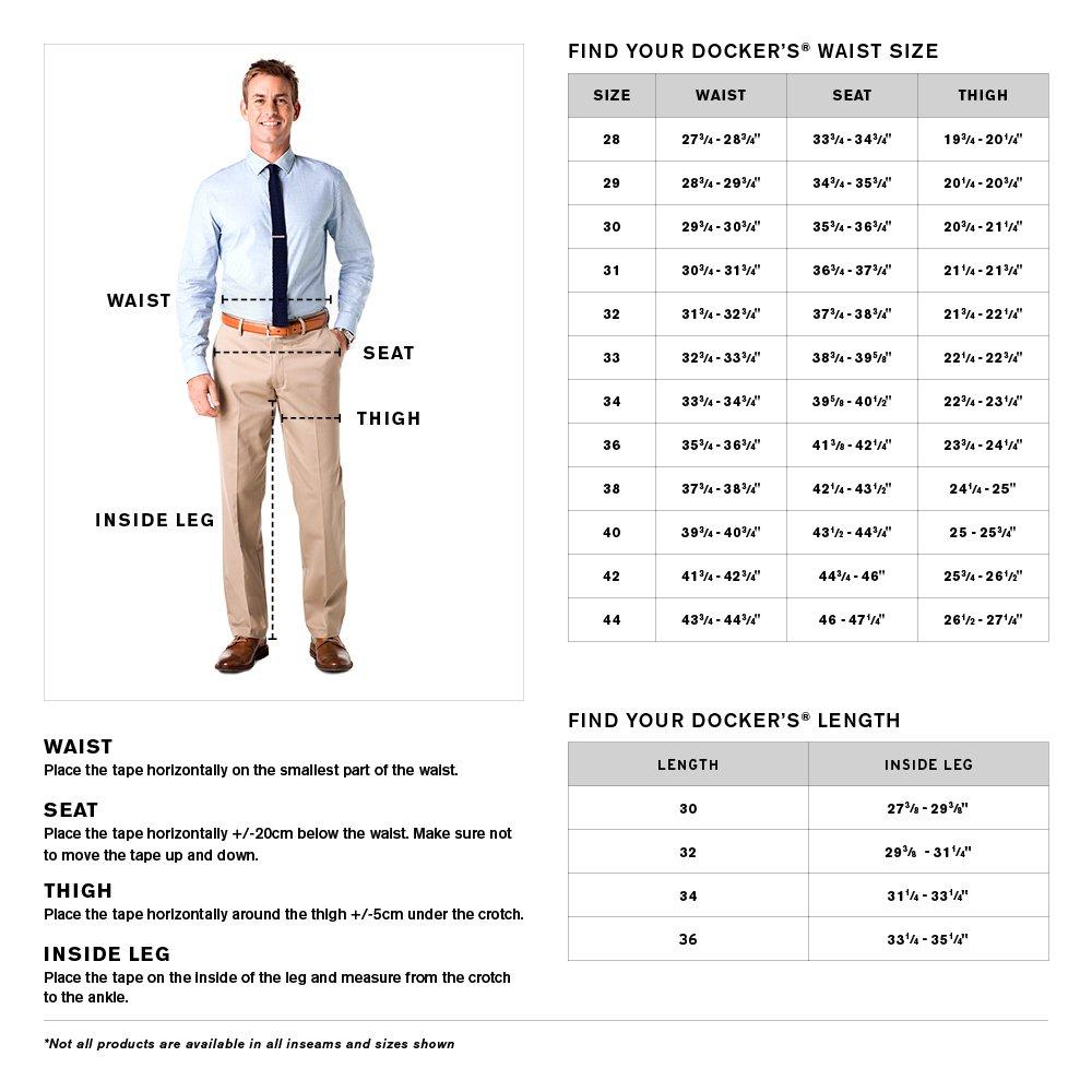 Dockers Mens Easy Khaki D1 Slim-Fit Flat-Front Pant