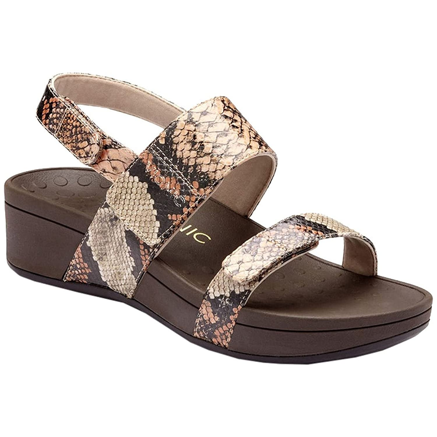 54bf97008ed Vionic Women s Pacific Bolinas Leather Ankle Strap Sandals  Amazon.co.uk   Shoes   Bags