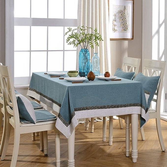 LIUYU Solide Couleur Simple Nappe Imperméable Linge de Table Linge de Toile Coton Linge Rectangulaire Table Basse Tissu Usage Domestique / 140 * 160,S-140 cm * 160 cm