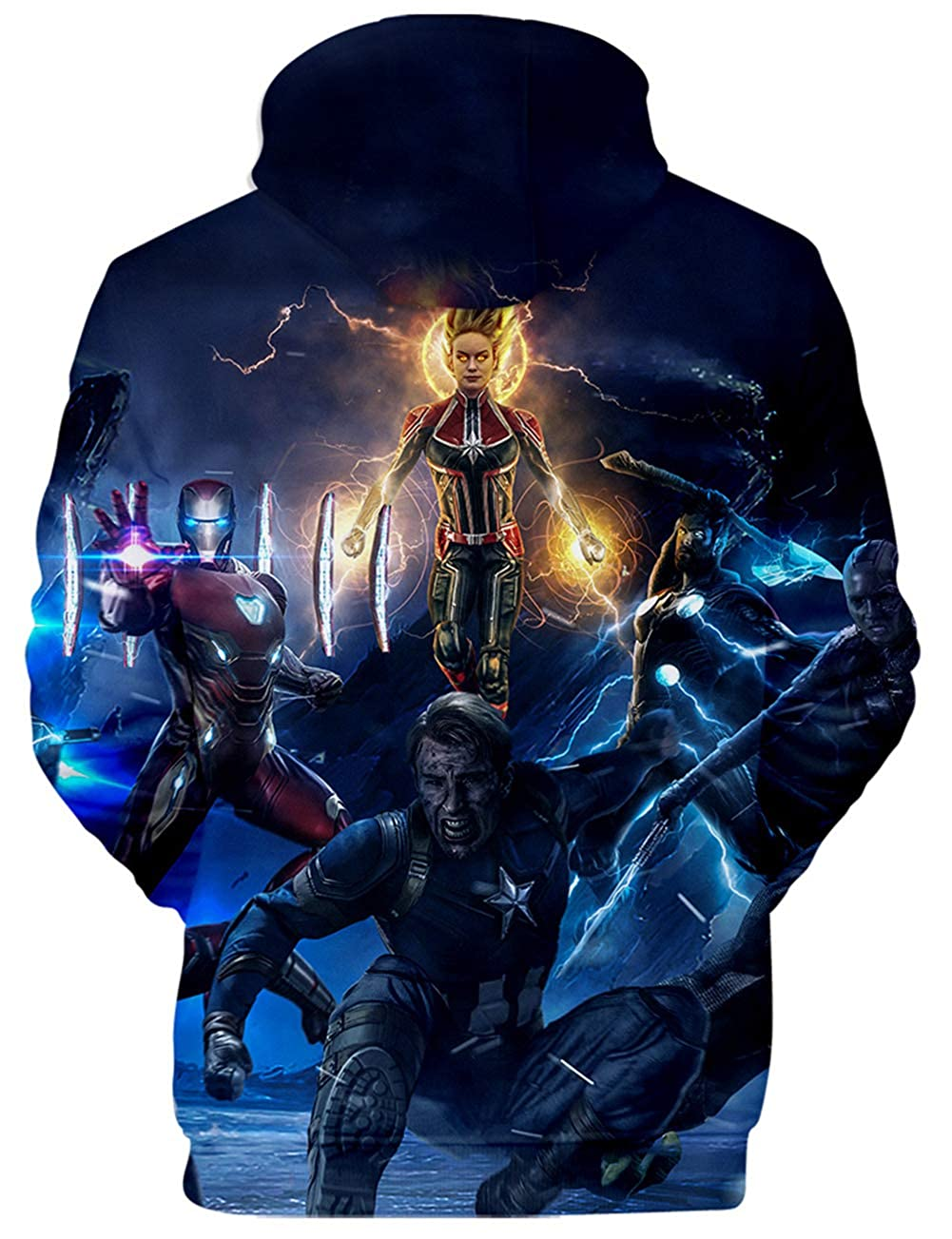 KamiraCoco Homme Avengers Endgame Sweat /à Capuche Quantum Realm Cosplay Manches Longues