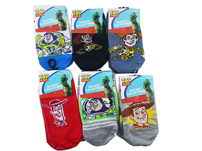 3 Piece Assorted Toy Story Socks (Size 4-6) - Assorted Childrens Socks