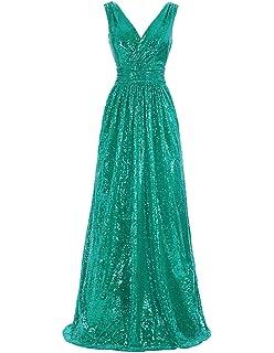 263d4f96f0688b Kate Kasin Women Sequin Bridesmaid Dress Sleeveless Maxi Evening Prom  Dresses