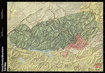 Amazoncom Vintage 1990 Map of Great Smoky Mountains National Park