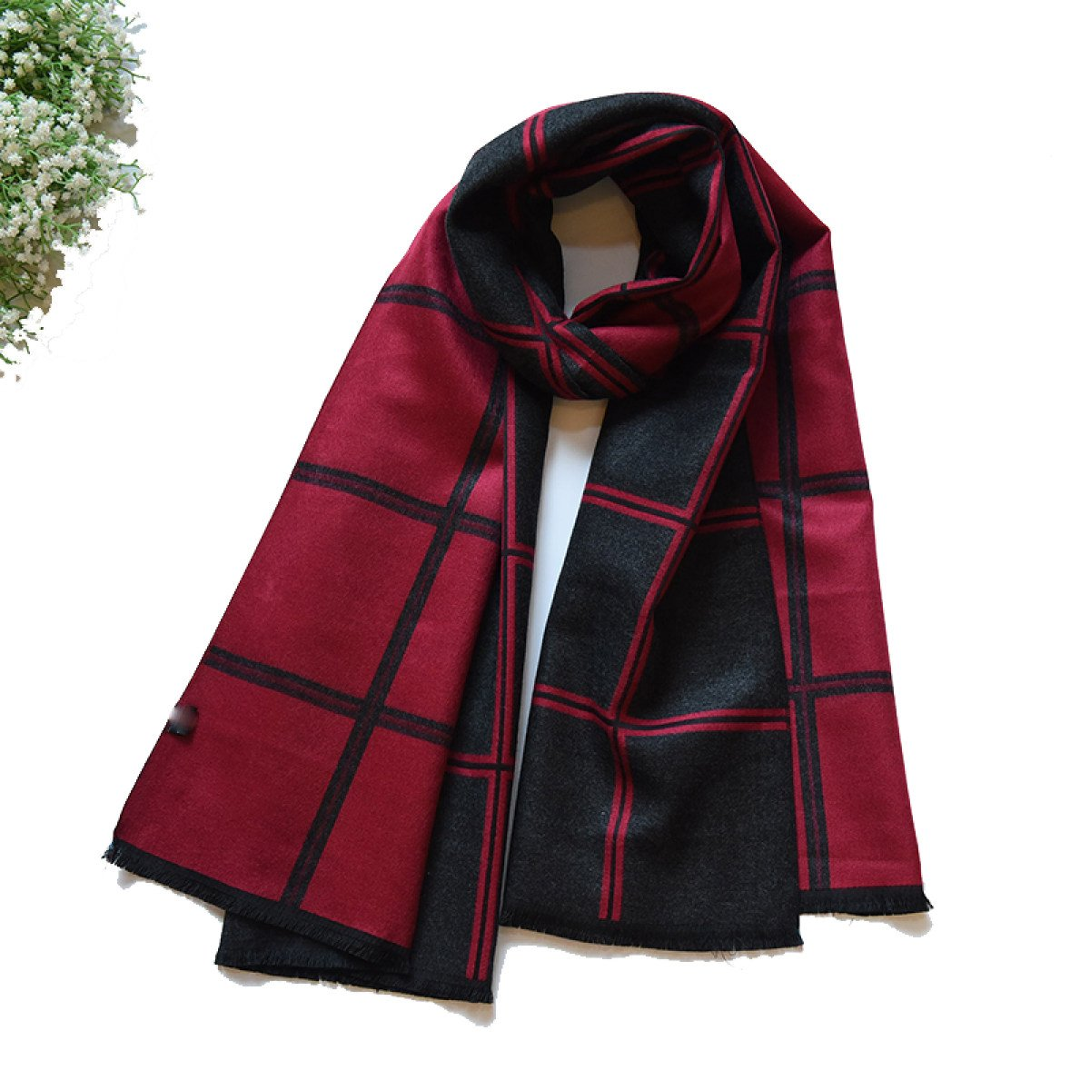 F CCAILIS Men And Women Autumn And Winter England Double Sided Lattice Fashion Scarf Thicker Shawl Warm Long Out,AOneSize