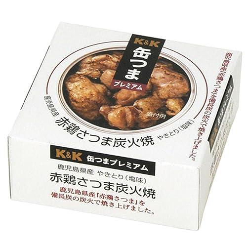 缶つま 鹿児島県産 赤鶏さつま炭火焼 75g缶×24個[2CS]