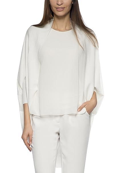 APART Fashion 61281 - chaqueta punto Mujer, Blanc - Weiß (eierschale), ES