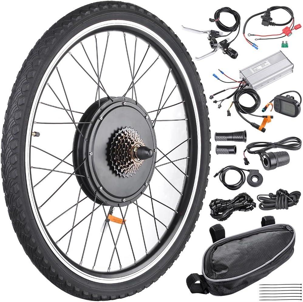 AW Kit de Motor de Pantalla LCD para Bicicleta eléctrica de 26 Pulgadas x 1.75 Pulgadas con Rueda Trasera de 48 V 1000 W: Amazon.es: Deportes y aire libre