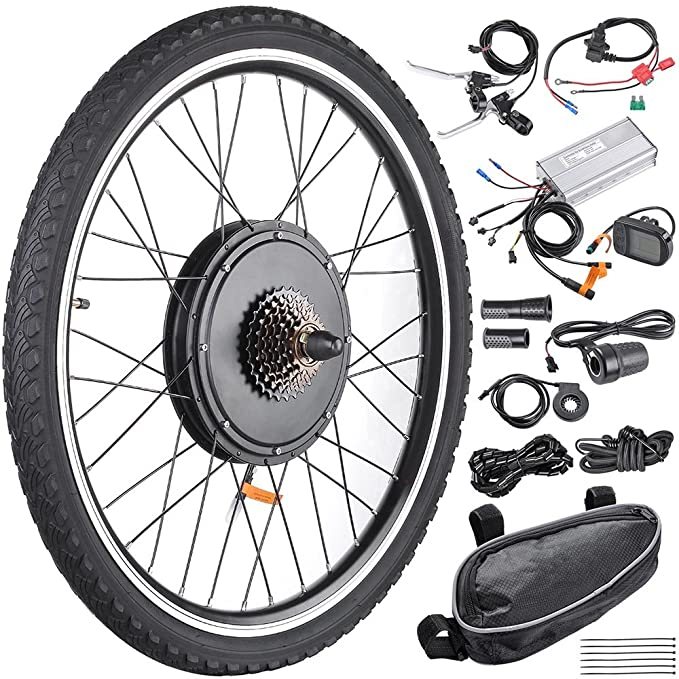 "Best ebike Conversion Kit: AW 26'' x 1.75"" E-Bike Conversion 48V1000W"