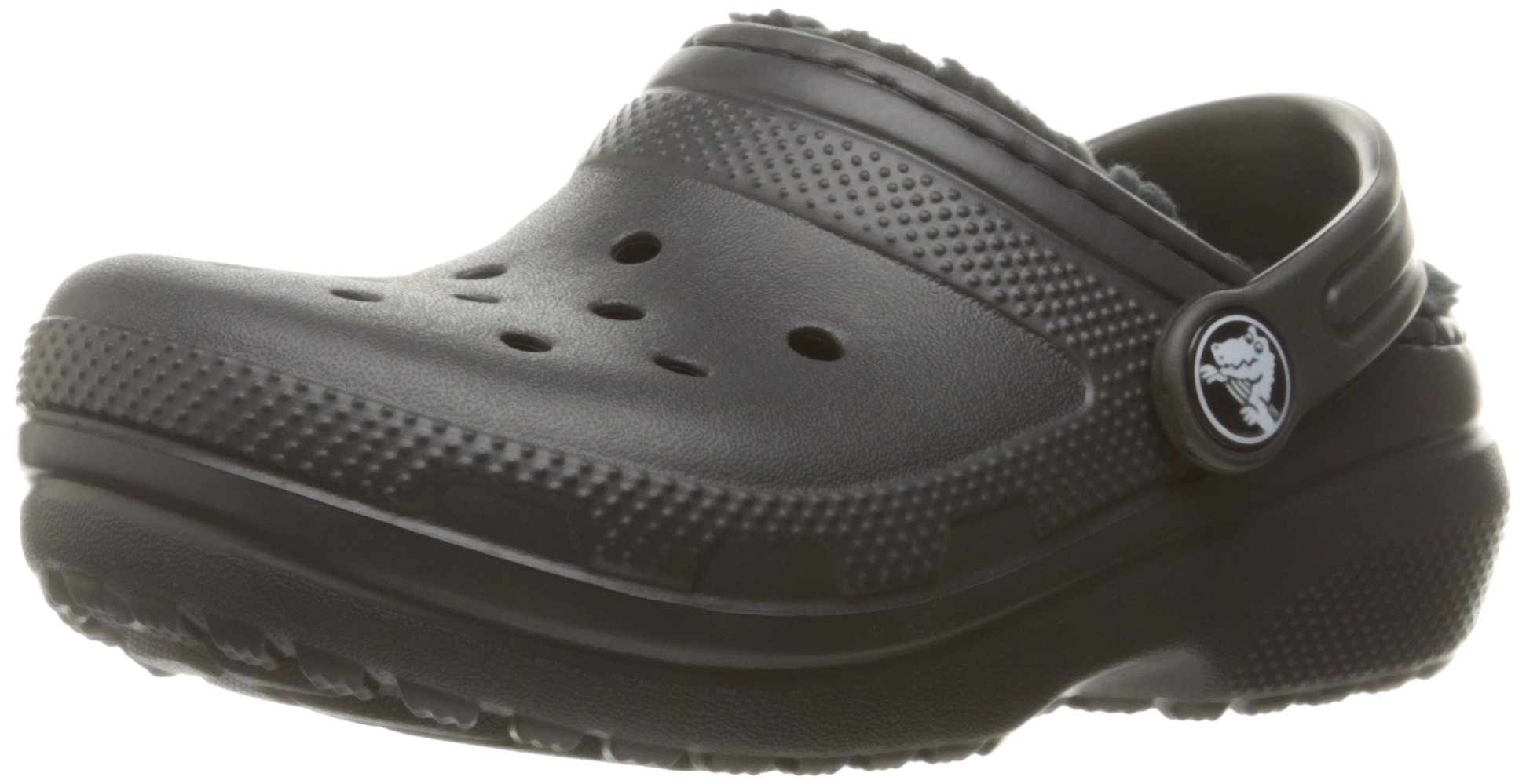 crocs Classic Lined Clog (Toddler/Little Kid), Black/Black, 8 M US Toddler by Crocs