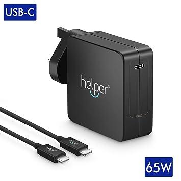 Cargador Fuente 65 W portátil USB de c pd3.0 QC 4 + Charger Cargador