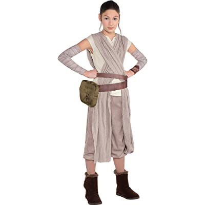 Costumes USA Star Wars 7: The Force Awakens Rey Costume for Girls, Includes Jumpsuit, Arm Warmers, and More: Clothing
