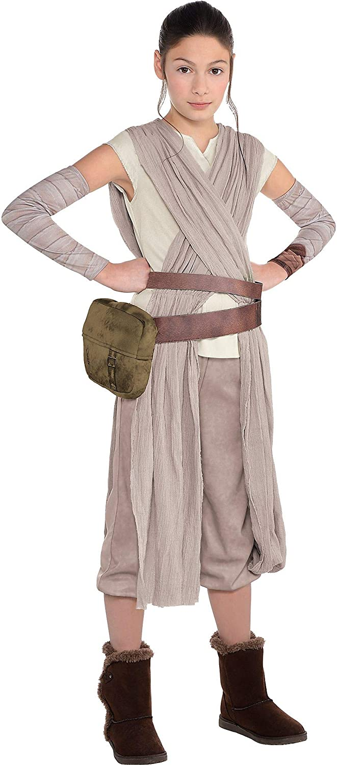 Costumes USA Star Wars 7  The Force Awakens Rey Costume for Girls  Includes Jumpsuit  Arm Warmers  and More