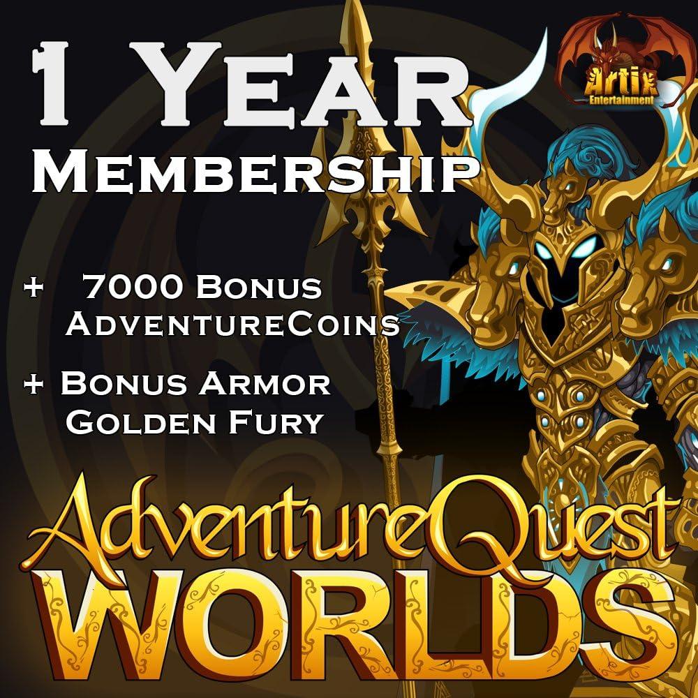 Amazon com: 1 Year Membership: AdventureQuest Worlds [Instant Access