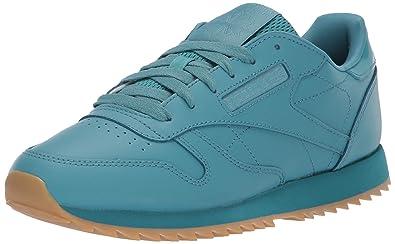 37aeb6c27a77c Reebok Women s Classic Leather Ripple Sneaker Mineral Mist Gum 5 ...