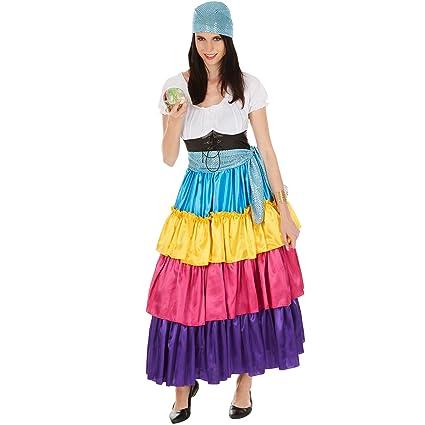 dressforfun Disfraz de Pitonisa para Mujer | Vestido Largo ...