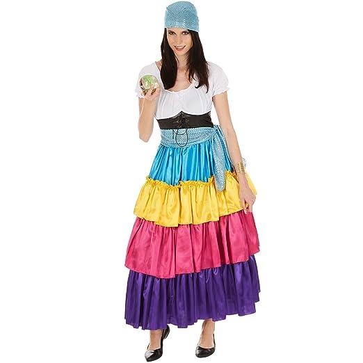 TecTake dressforfun Disfraz de Pitonisa para Mujer   Vestido Largo ...