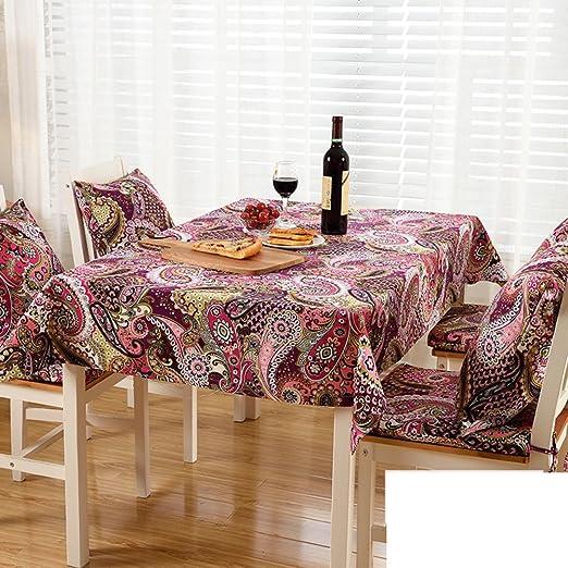 TRE Americano mesa tela tela de algodón/mantel rectángulo/mesas ...