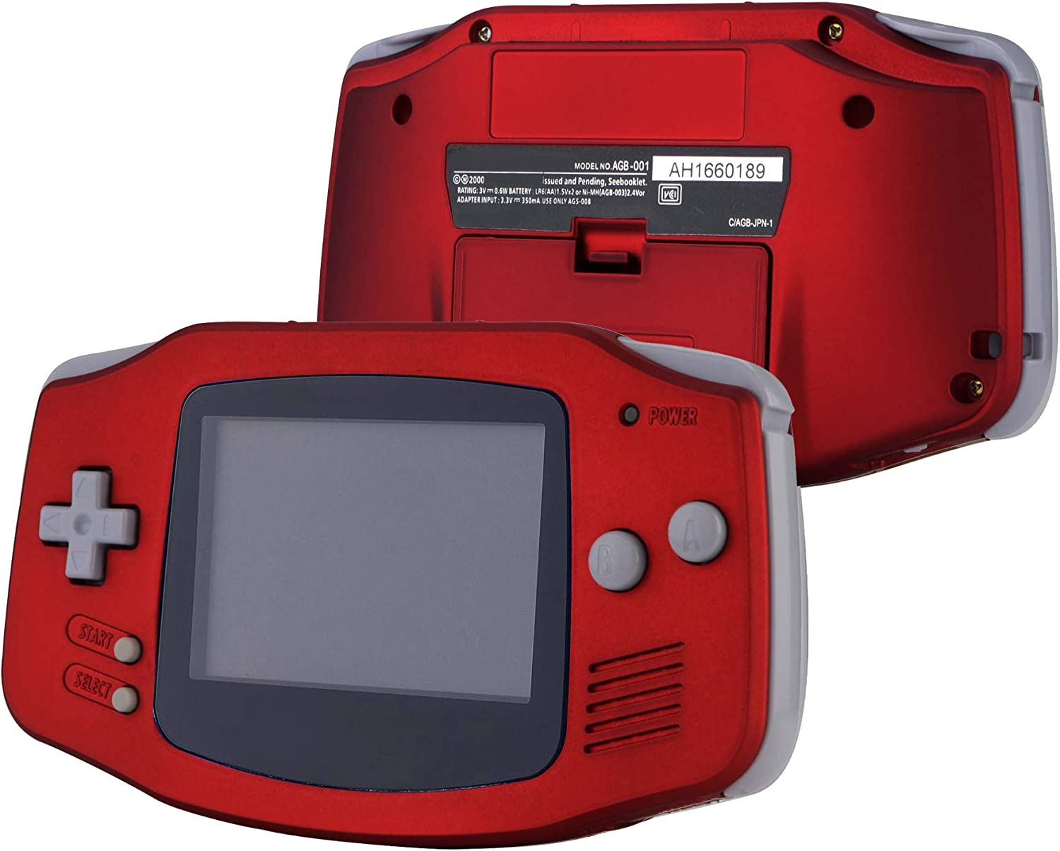 eXtremeRate Scarlet Red Soft Touch GBA Replacement Full Housing Shell Cover w/Buttons Screws Screwdriver Tools Set for Gameboy Advance - Handheld Game Console NOT Included: Computers & Accessories
