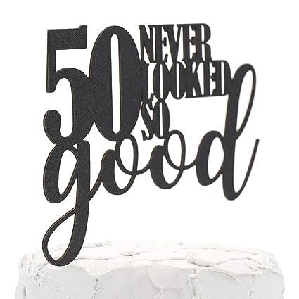 Decoración para tarta de 50 cumpleaños de NANASUKO – 50 ...